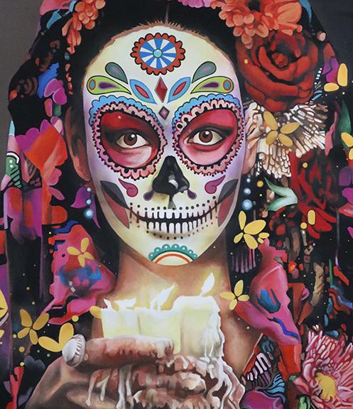 Tony Collantez day of the dead woman web